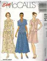 8754 UNCUT McCalls SEWING Pattern Misses Jacket Pull on Skirt Career OOP SEW FF