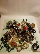 Crafters Lot Jewelry Bracelets Necklaces Earrings 5 Lb Jewelry Makers Craft #F