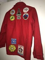 1970s Boy Scout of America Red 552 Wool Official Jacket Patches Sz14 California