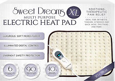 Genuine Sweet Dreams Therapeutic Electric Heat Pad Soothing Muscle Pain Relief