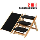 Foldable Pet Dog Cat 3 Steps / Ramp Portable 2-in-1 Stairs Ladder Washable Cover