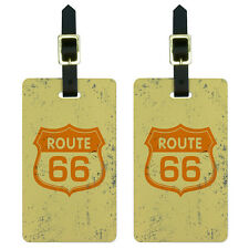 Route 66 Vintage Luggage Suitcase Carry-On ID Tags Set of 2