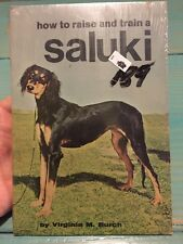 How to Raise and Train a Saluki By V. M. Burch Paperback NOS sealed