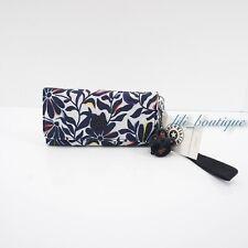 NWT Kipling AC8152 RUBI Snap Long Wallet Wristlet Nylon Floral Flourish Multi 48