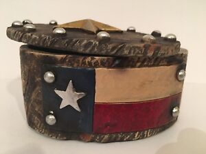 TEXAS Pride Flag Trinket Box Country Home Decor