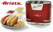Hotdog Maker Ariete Retro Party Geburtstag Wärmt Panini Wurst Maschine 650 W NEU