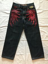 Royal Republic Clothing Company Boys Black Jeans With Graphics Size 14 NICE!