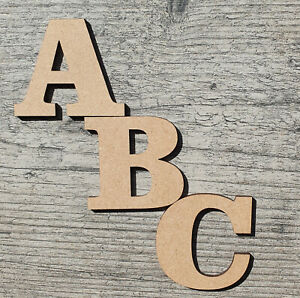 Wooden Letters Decoration Craft Shape Toy Box Name 30mm-300mm Big Large 3mm MDF