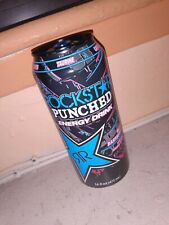 RARE 2013 Rockstar Energy PUNCHED Blue Raspberry - Full 16 oz Can Discontinued