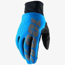 100% HYDROMATIC WATERPROOF BRISKER MOTOCROSS ENDURO BIKE GLOVES BLUE MTB