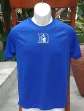 DUKE BLUE DEVILS Mens Dri Fit-Like Blue Polyester Tshirt Stadium Size Small
