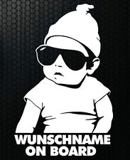 1x Aufkleber WUNSCHNAME ON BOARD Sticker Hangover Baby Auto Kind fährt mit FUNx