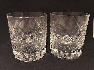 A Pair Of Vintage Lead Cut Crystal Tumblers
