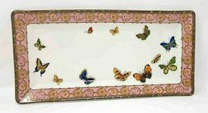 Grace's Teaware Serving Tray Dish Porcelain Butterflies