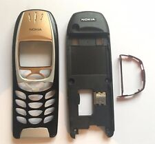 For Nokia 6310 6310i Housing Front Facia Cover Rear Chassis Case silver or gold