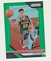 2018-19 Panini Prizm GREEN REFRACTOR PRIZM #48 JOHN COLLINS Atlanta Hawks