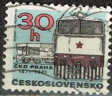 Czech Railroad Locomotive stamp 1973