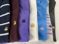 Lot of 7 Brooks Brothers Golden Fleece Large L polo shirts mix multicolor logo