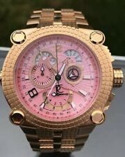 Mens Renato Vulcan Pink Dial Yellow Gold 46mm Watch - Limited to 75