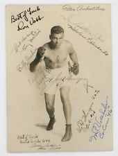ORIGINAL JACK DEMPSEY AUTOGRAPHED  BOXING PHOTO WITH 29 ADDITIONAL SIGNATURES