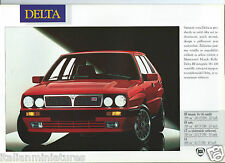 Lancia Delta HF Integrale Martini Y10 Dedra Thema Brochure 1991 Polish Language