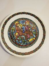 Darceau-Limoges Noel Vitrail-Stained Glass Christmas Plate #1-Flight into Egypt