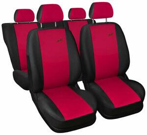 Seat covers fit Ford Focus Mk1 Mk2 Mk3 Mk4 FULL SET black / red