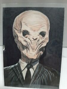 ACEO Painting Original Dr Who  Villan The Silance Good Quality Drawings Lots Of