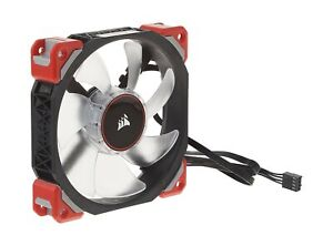 Corsair ML120 Pro LED, Red, 120mm Premium Magnetic Levitation Cooling Fan CO-...