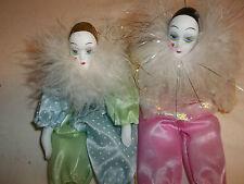 Show Stoppers Hand Painted Porcelain Ladies Clown Doll Dolls Collectors Sale!
