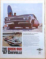 1967 magazine ad for Chevrolet - Malibu Sport Coupe, Concours Custom Wagon