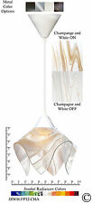 Jezebel Radiance Champagne Beige & White Small Pendant Light with White Hardware