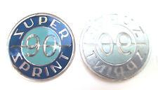 Vespa SS90 SUPER SPRINT Rahmen Schriftzug Badge Emblem Toolbox NEU
