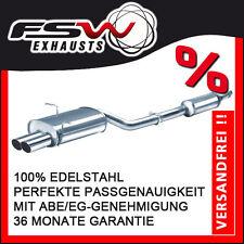 FSW Sport Auspuffanlage komplett ab Kat BMW 3er E46 316i + 318i Lim Tour Coupe