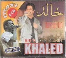 Cheb Khaled Nostalgie -45 Songs: Delali, Dirou hak, Daifi, Taleb Arabic (4) CD's