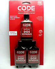 3 - 2 oz Bottles Code Red Whitetail Doe Estrous Deer Hunting Scent by Code Blue