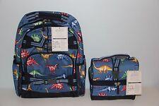 Pottery Barn Kids Dinosaur Large Backpack & Classic Lunch Box Nwt No Mono Dino
