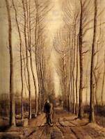 VINCENT VAN GOGH AVENUE OF POPLARS 1884 OLD MASTER ART PAINTING PRINT 2751OM