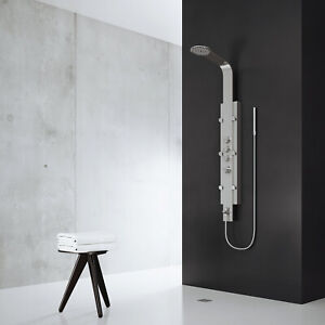 VIGO Mateo Stainless Steel Shower Massage Panel System With Spout