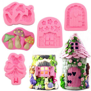 Fairy Silicone Mould Cake Fondant Chocolate Icing Baking Decoration Topper Candy