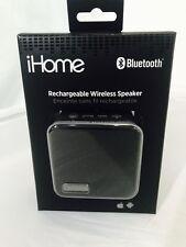 iHome Bluetooth Speaker (IBT56BGC) - Black Brand New