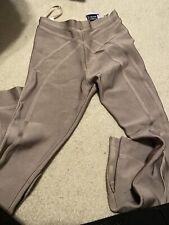 $2495 Herve Leger Jegging Pant Tan/Beige/Nude Bandage High Waist Rise Legging XS
