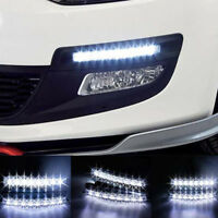 2Pcs 12V 6 Led Daytime Running Light Drl Car Fog Day Driving Lamp Lights Ki FE