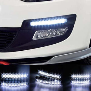 2PCS 12V 6 LED Daytime Running Light DRL Car Fog Day Driving Lamp Lights Ki mi