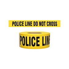 Yellow POLICE LINE Tape, 1000 Foot Roll, 2.5 Mil