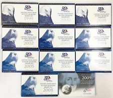1999-2008-2009 Proof State & Territories DC Quarter 11-Year Set 25C Complete OGP