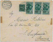 ITALIA RSI:  storia postale - FLLI BANDIERA su BUSTA - 25 c : coppia + singolo