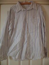 Mens YSL Yves Saint Laurent Striped Shirt Size Extra Large