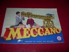 CATALOGUE  MECANO   MANUEL D'INSTRUCTION  1 A   1954