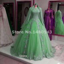 New Elegance Muslim Wedding Dresses Bridal Gowns Custom-made Size 2-28++